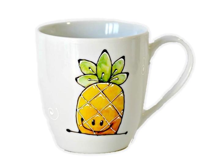 Il y a aussi ... les ananas! On les aime pour parce qu'ils sont beaux, parce qu'ils sont frais, mais aussi sucrés!