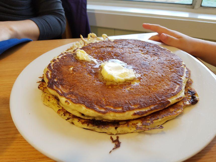 Ma montagne de crêpes de style pancakes!