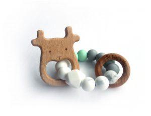 Pois et Moi-jouet dentition cerf-mere helene
