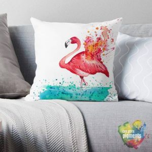 flamant coussin